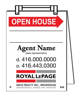 royal lepage real estate sandwich board sign