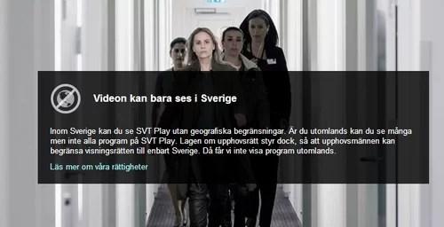 Videon kan bara ses i Sverige