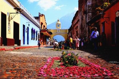 #Antigua_Semana Santa_Alfombra at Arco Santa Catalina