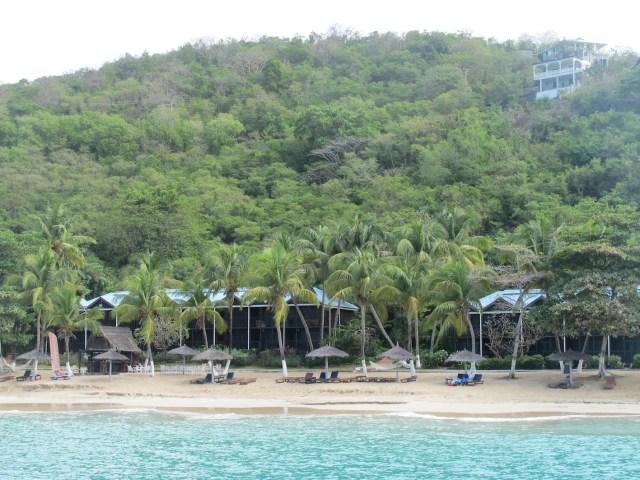 A deserted-looking resort at Tamarind Beach Hotel