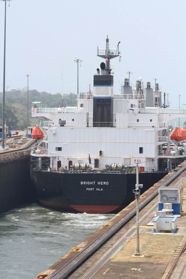 Another big monster exiting the Gatun locks
