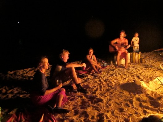 A bonfire, a beach, a guitar and good company. Perfect birthday!