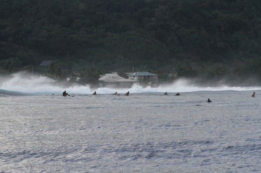 early morning surfers, pass Taapuna