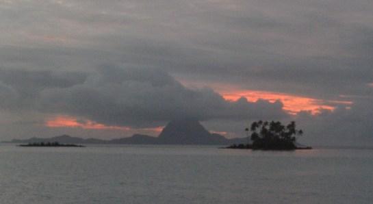 Bora Bora sunset on a squally day