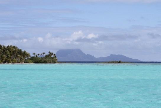 Bora Bora from the anchorage at Taha'a