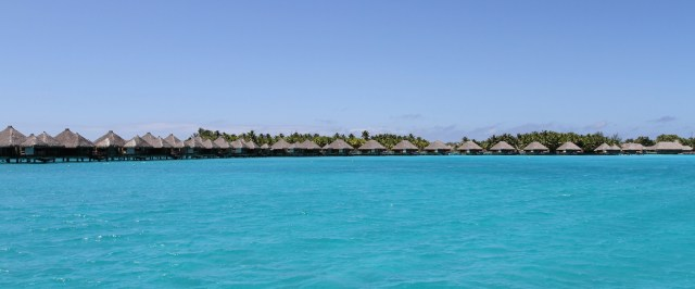 Bungalows over the water are everywhere in Bora Bora