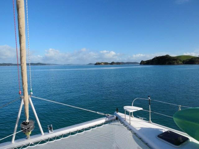 motoring to Motuarohia Island