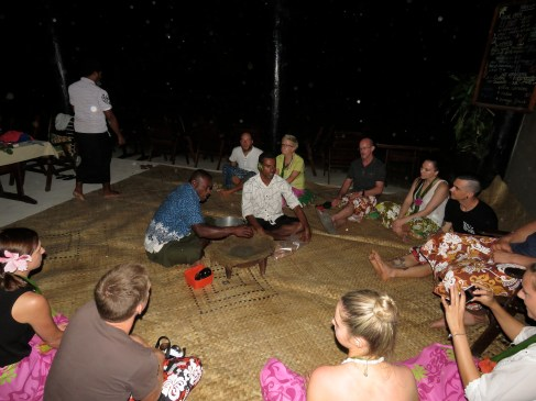 The kava ceremony begins