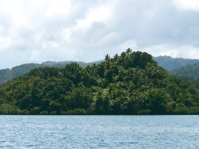 the lush surrounds of Serua Harbour