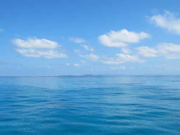 The view of Kadavu and the islands of South Astrolabe Reef in the distance