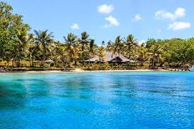 The pristine waterfront off Aore Resort