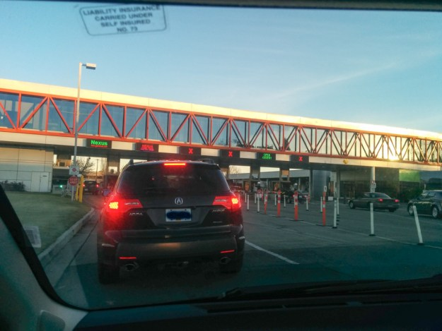 Crossing the border with my NEXUS pass
