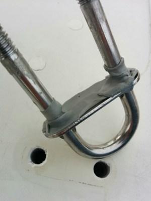 Rebedding U-bolts with butyl tape