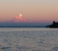 And Moon rises (Mt. Rainier)