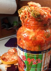 Small Kimchi explosion in our galley yesterday!
