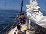 When we talked about sailing I told her all she had to do was be beautiful and sit on the bow.