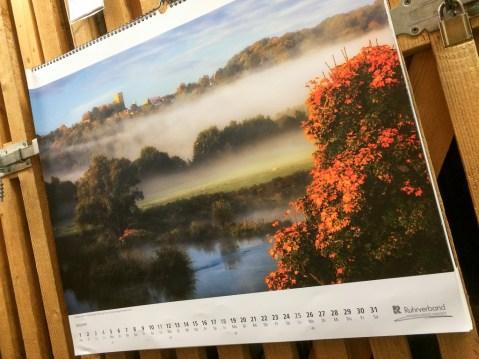 Auch auf unserem Ruhrverbands-Kalender ist Herbst