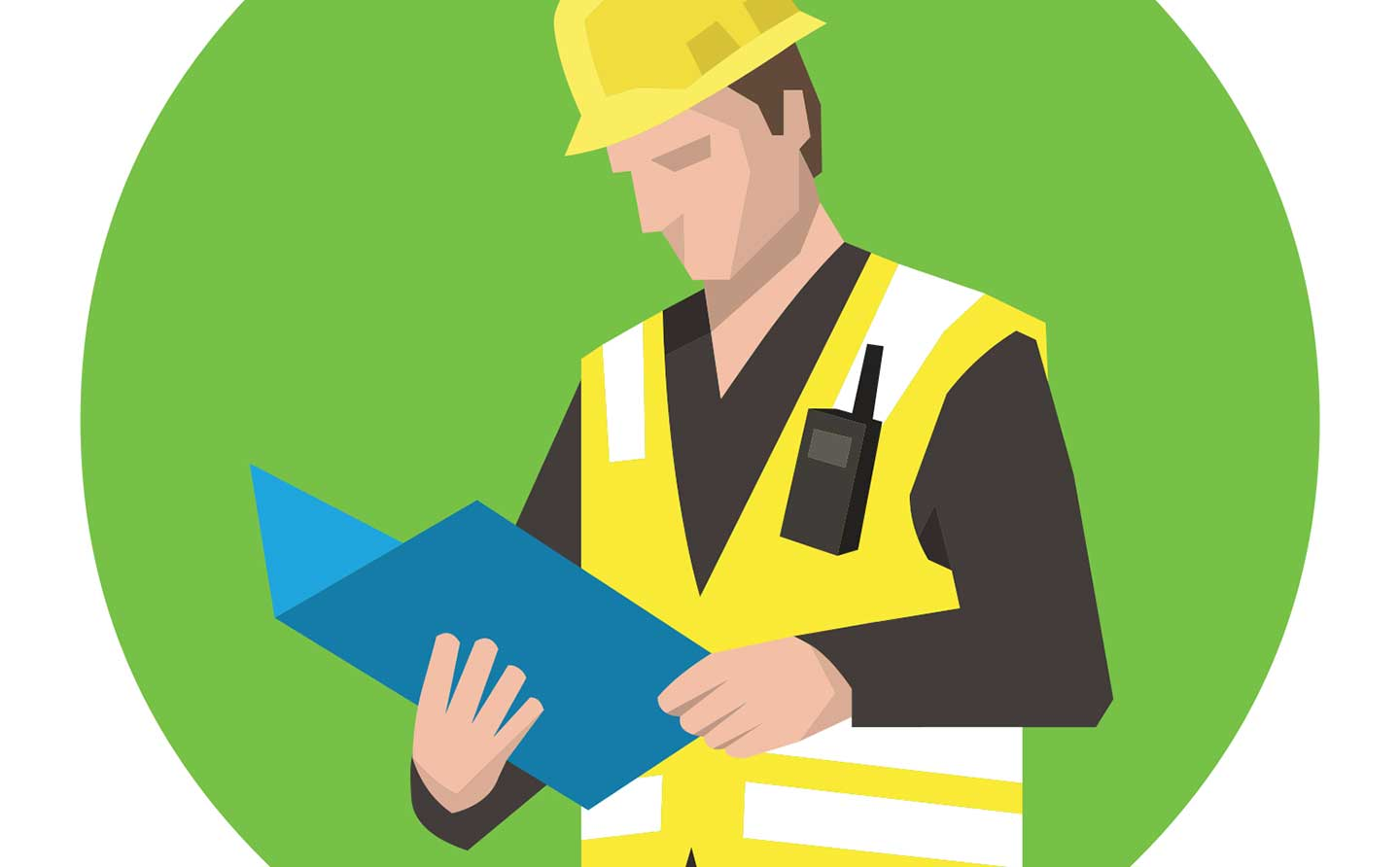 illustration of a general contractor