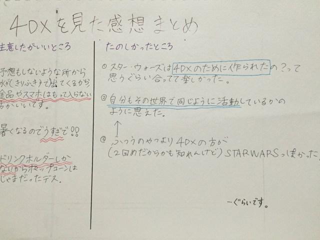 スター・ウォーズ 4DX