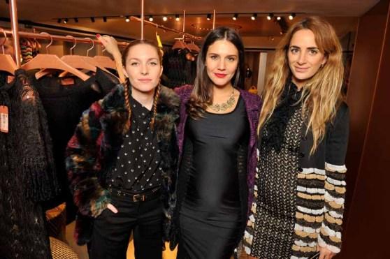 Josephine de la Baume & Margherita Maccapani Missoni & Alexia Niedzielski