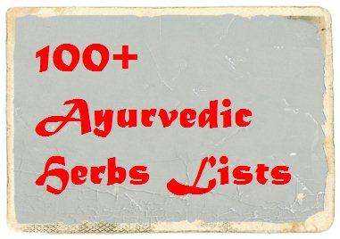 ayurvedic herbs lists in hindi