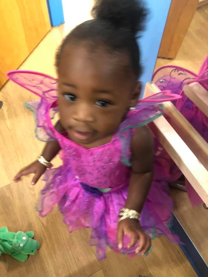 A CHILD Center student wearing a pink fairy costume
