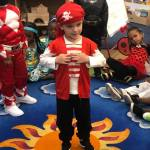 A CHILD Center student wearing a pirate costume