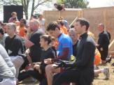 Leslie, me, Antonio, Harley. Getting peptalked at the starting line.