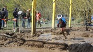 Electroshock Therapy. Last obstacle before the finish line. I did get zapped on this one. Not the face!