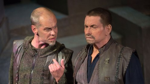 "Louis Butelli and Anthony Cochrane in ""Julius Caesar."""