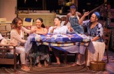 "Meeya Davis, Nikiya Mathis, Caroline Clay, Afi Bijou. and Tonye Patano in ""The Blood Quilt."" (C. Stanley Photography)"