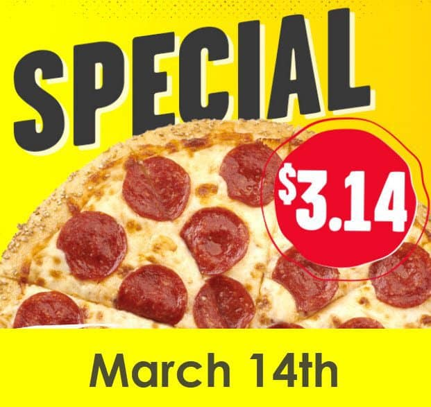 PI Day Pizza Deals for Tallahassee