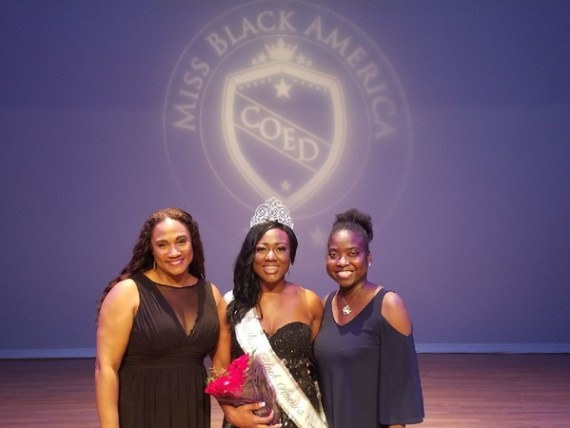 iss Black America Coed Founder Candace Cooper, Miss Black America Coed 2018 Erica Bryant, Miss Black America Coed National Assistant Director JC Goode.