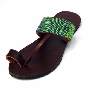 Fair trade sandals ethically handmade by artisans in East Africa.
