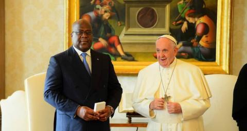 Papa na felix DRC Felix kisekedi afurahishwa kukutana na Papa Francis