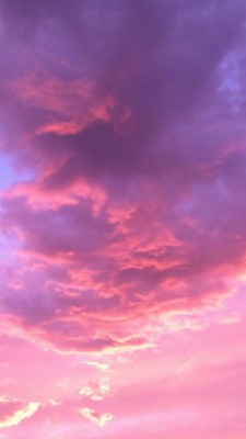 Pink purple orange playful illustrative halloween desktop wallpaper. Aesthetic, Blue, And Clouds Image - Blue Sky Fluffy Clouds