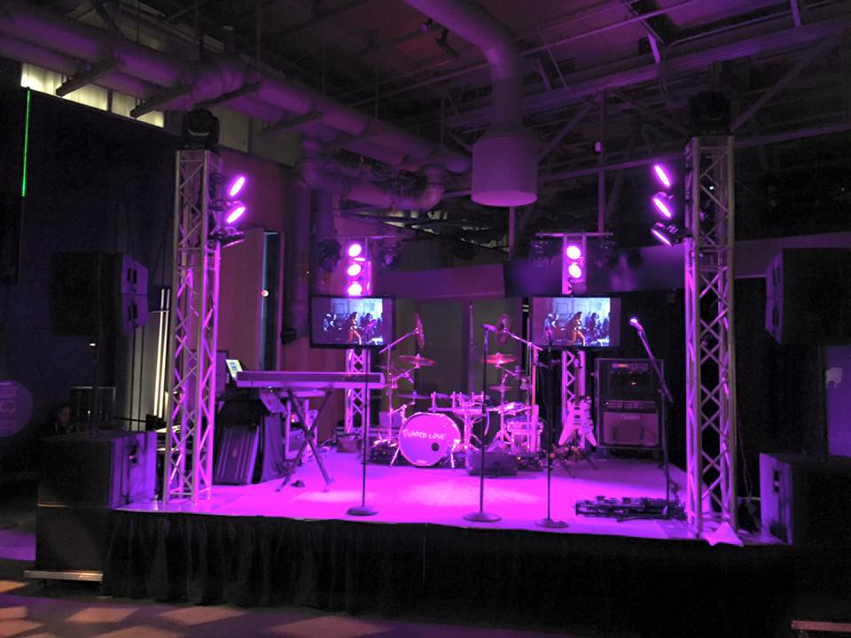 Tainted Love Stage Set Up with Multi Media - The Exploratorium San Francisco 2016