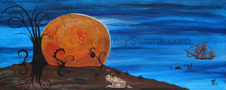 SOLD Harvest Moon 24x48""