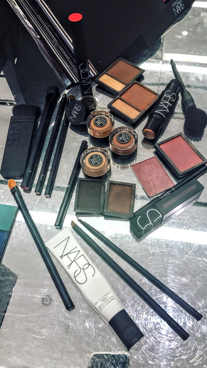 different makeup products from NARS cosmetics