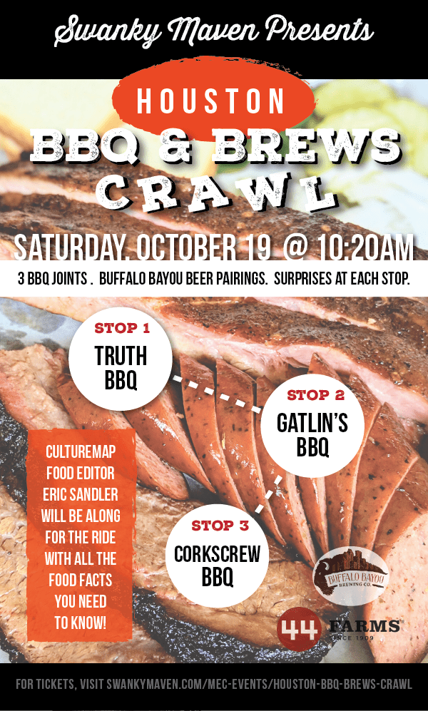 Flyer For BBQ & Brews Houston Event