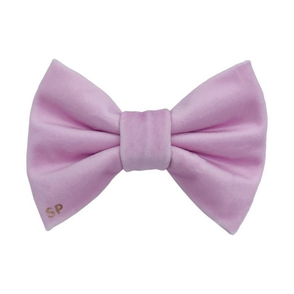 Pink Dog Bow tie in designer velvet, super soft. This dog bow tie is perfect for all occasions