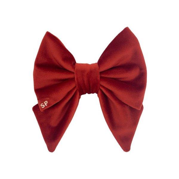 red designer dog sailor bow made from soft velvet in Australia