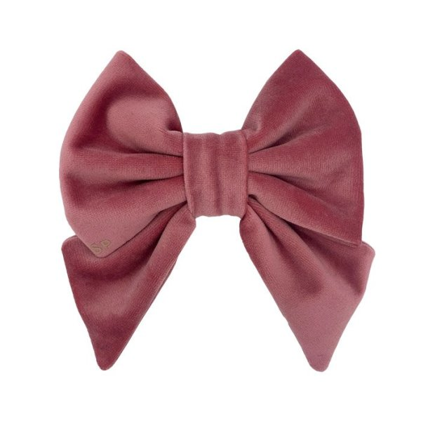 Rose sailor dog bow tie front size with luxury velvet
