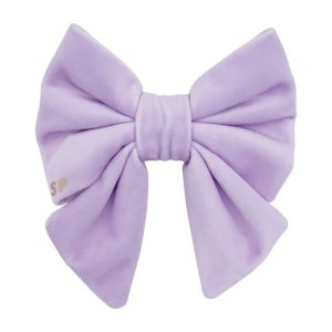 lilac dog sailor bow tie made from soft and luxury velvet