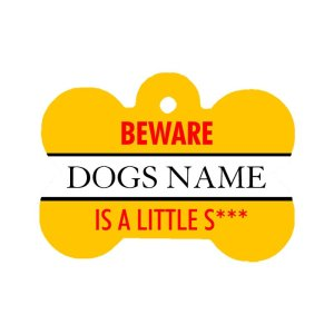 Little Shit dog personalised ID Tag
