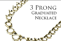 3 Prong Graduated Necklace