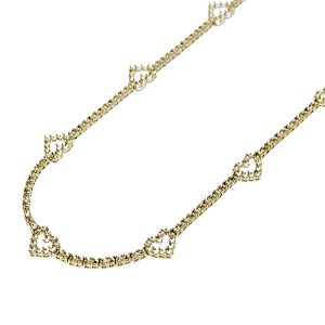 4 Prong Fashion Tennis Necklace with Heart Shape Designs