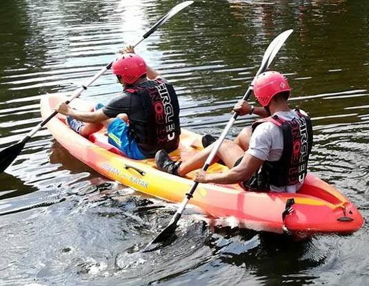 sit on kayaking