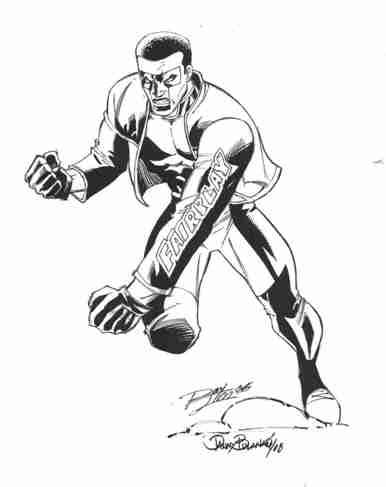 Mr. Terrific, pencils by Ron Lim, inks by Danny Bulanadi