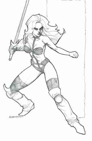 Taarna, pencils and inks by comics artist Alejandro Garza